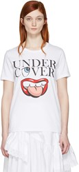 Undercover White Mouth Logo T Shirt