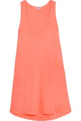 Splendid Vintage Whisper Supima Cotton Jersey Mini Dress Coral