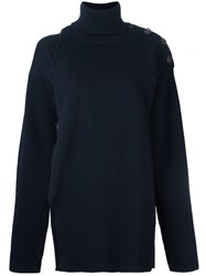 Y Project 'Two Piece' Turtleneck Jumper Blue