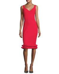 La Petite Robe Di Chiara Boni Cobie Tiered Hem Jersey Dress Passion