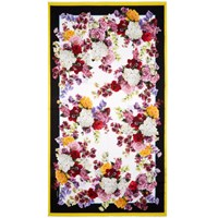 Dolce And Gabbana Multicolor Flower Scarf