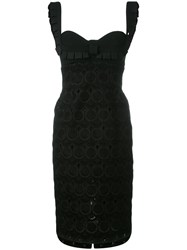 Capucci Fitted Sweetheart Dress Black