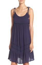 Rip Curl Women's 'Wild One' Woven Cover Up Dress Navy