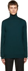 Balmain Green Side Zip Turtleneck