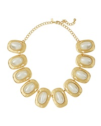 Kenneth Jay Lane Golden Pearly Link Necklace