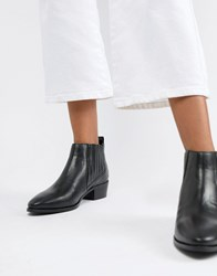 Bronx Leather Chelsea Boots Black