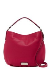 Marc By Marc Jacobs New Q Hillier Leather Hobo Pink