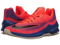 Nike Air Max Infuriate Low Total Crimson Black Paramount Blue Men's Basketball Shoes Red
