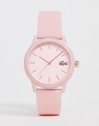 Lacoste 12.12 Silicone Watch In Pink