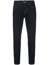 Current Elliott Cropped Skinny Jeans Blue