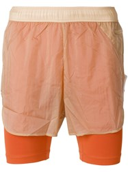 Cottweiler Layered Look Shorts Nude And Neutrals