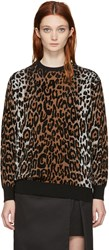 Stella Mccartney Multicolor Cheetah Jacquard Sweater