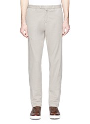 Isaia Cotton Linen Chinos Brown