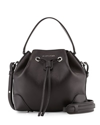 Givenchy Lucrezia Waxy Leather Bucket Bag Black