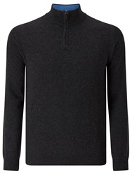 John Lewis Made In Italy Cashmere Zip Jumper Charcoal