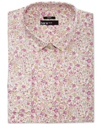 Bar Iii Men's Slim Fit Pink Antique Floral Print Dress Shirt Only At Macy's