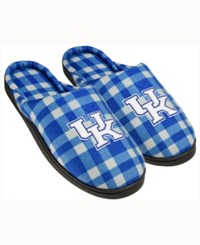 Forever Collectibles Kentucky Wildcats Flannel Slide Slippers Blue