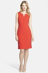 Hugo Boss 'Daladi' Sleeveless Sheath Dress Red