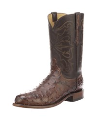 Lucchese Hudson Full Quill Boots Antique Brown