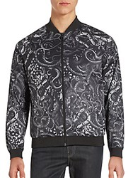 Eleven Paris Snake Graphic Jacket Charcoal