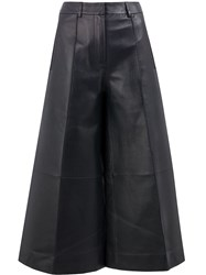 Rokh Cropped Wide Leg Trousers Black