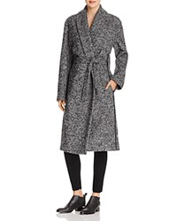 Alexander Wang T By Wool Blend Boucle Wrap Jacket Black And White
