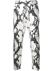 Just Cavalli Patterned Skinny Jeans White