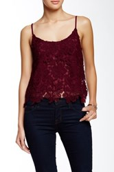 Astr Lace Overlay Cami Red
