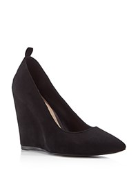 Pour La Victoire Yaron Pointed Wedge Pumps Black