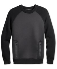 Guess Men's Colorblocked Sweater Jet Black