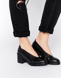 Tba To Be Announced Maine Cleated Heeled Shoes Blackcroc