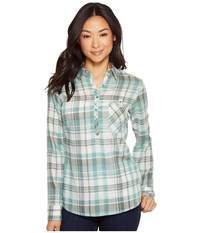 Kuhl Spektra Plaid Jasper Long Sleeve Button Up Brown