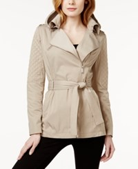 Bcbgeneration Quilted Asymmetrical Trench Coat