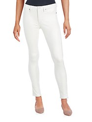 7 For All Mankind Solid Five Pocket Jeans Antique White