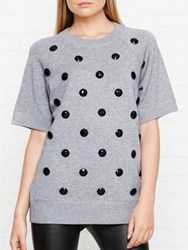 Marc Jacobs Raglan Crew Neck Sweatshirt Grey