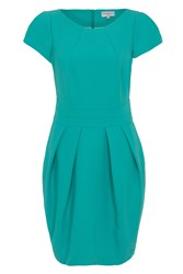 Wolf And Whistle Textured Tailored Dress Turquoise Blue