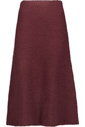 M Missoni Wool Blend Boucle Midi Skirt Burgundy