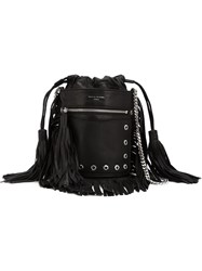 Sonia Rykiel Fringed Bucket Bag Black