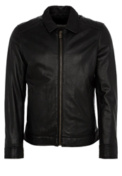 Chevignon Banco Leather Jacket Noir Black