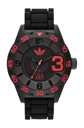Adidas Men's Newburgh Chronograph Watch Black With Pops Of Red