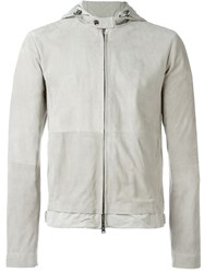 Herno Hooded Zip Jacket Grey