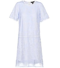Burberry Embroidered Tulle T Shirt Dress Blue