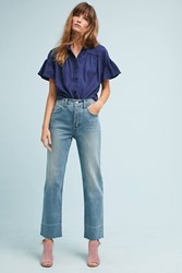 Anthropologie Pilcro Mid Rise Boyfriend Ankle Jeans Denim Medium Blue