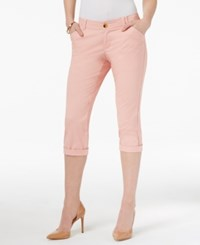 Lee Platinum Petite Chino Cropped Pants Salmon Bisque