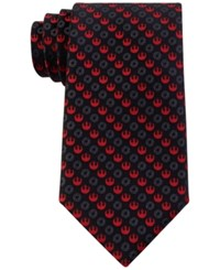 Star Wars Men's Rebel And Imperial Logo Tie Black