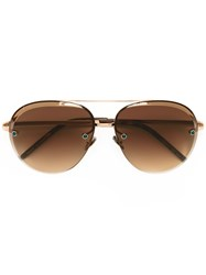 Pomellato Oversized Aviator Sunglasses Metallic