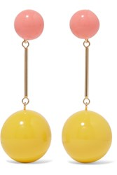 J.W.Anderson Gold Tone Resin Earrings Yellow