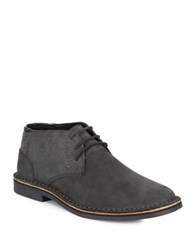 Kenneth Cole Reaction Round Toe Leather Chukka Boots Grey