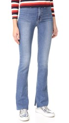 Joe's Jeans Micro Flare High Rise Distressed Medium Blue