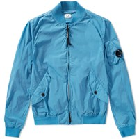 C.P. Company Nycra Stretch Arm Lens Bomber Jacket Blue